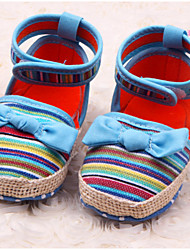 Baby Shoes Casual Fabric Flats Blue