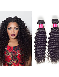 "3pcs / lot 8 ""-34"" brazilian trama onda profunda onda profunda # 1b 300g cabelo tece madeixas de cabelo brasileiros"