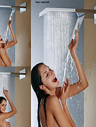 Wall Mounted Stainless Steel 304 Chrome Bathroom Shower Head With Rainfall And Waterfall Two Water Functions