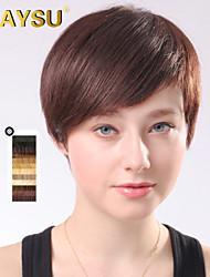 charmante coiffure cheveux remy vierge top perruques courte mono droite