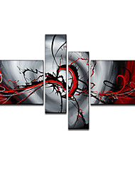 VISUAL STAR®Oil Painting Hand-Painted Canvas Wall Art Handmade Oil Painting Four Panels Ready to Hang