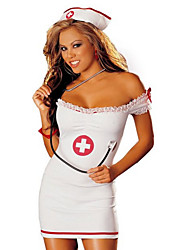 Woman's Off Should Sleeveless Sexy Nurse Costume Uniform
