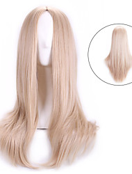 65cm Blonde Natual Cheap Cosplay Wigs Peruca Synthetic Wig Women Lolita Anime Wig Cosplay Hair Wigs Long Straight