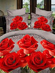 Red Polyester King Duvet Cover Sets