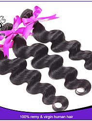 unverarbeitete 7a peruanische reine Haarkörperwelle peruanisches Körperwelle verkaufen peruanische Haarverlängerung des Loses 3pcs