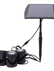 Outdoor 18 LED Solar Powered Spotlight Garden Lawn Landscape Floor Flood Spot Light RGB Yard Solar Lamps