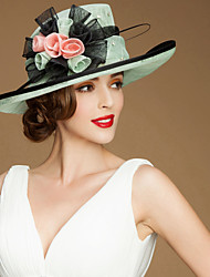 Fashionable Flax  Ladies Wedding /Parting Hat With Bowknot