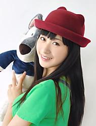 Women Candy Color Bear Hat Cat Ears Wool Hat