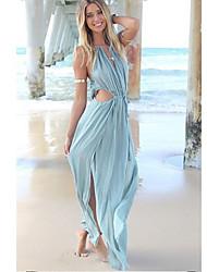 NUNEU   Women's Vintage/Sexy Straps Dresses (Cotton)