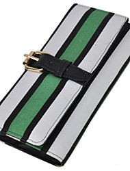 WeiYi Women's Fashion Contracted Horizontal Stripes Wallet