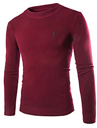 Men's Pure Pullover , Cotton/Knitwear Long Sleeve