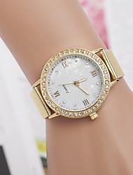 alliage de quartz suisse montre en diamant de la ceinture des femmes