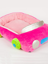 Pink Polyester Cute Car Shape Pet Bed for Dogs Cats 58x45cm / 23*18inch