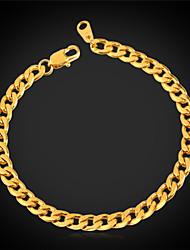 u7® nunca desaparecer ligação pulseira cadeia cubano dos homens para os homens de alta qualidade de titânio de aço 316L 5 milímetros 21 centímetros