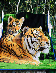 3D Tiger Throw Blanket Vivid Cool Plush Blanket New Soft Throw Best Gift Thick Animal Blankets