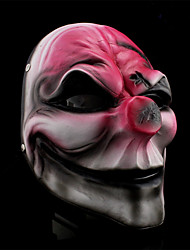 salaire 2 clown, masque de résine pour costume de halloween (1 pc)