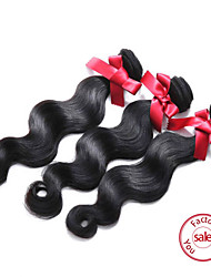 EVET Peruvian Virgin Hair body Wave 3 Pcs Lot Mixed Length Body Wave Human Hair 100% Weave Extensions