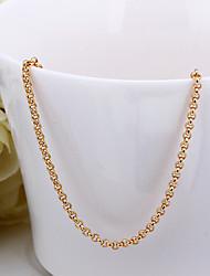 мода форма змея белого золота гальваническим медный сплав ожерелье Роло цепи (золото, розовое золото, белое золото) (1шт)