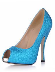 каблуки летние клубные обувь синтетические свадьба&вечернее платье синий
