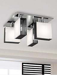 inbouw 4 lampjes chroom metalen glas eenvoudige wijze moderne 220v