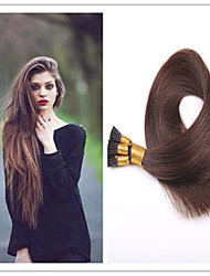 3pcs / lot 1g / s 100g / pc brésilienne vierge de cheveux droite fusion kératine extension de cheveux de bâton / i lève pré-collé cheveux
