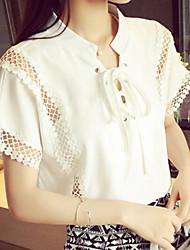 Women's Korea Style Pure White Short Sleeve Loose T-shirt