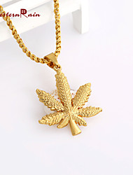 WesternRain 2015 hot fashion temperament of design unique maple leaf Pendant Chain Statement neutral  long Necklace