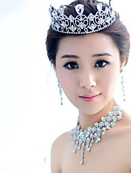 Korean Bride Diamond Crown Alloy Drop Hair Accessories Wholesale