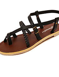 Women's Shoes  Flat Heel Mary  Sandals Casual Black/White