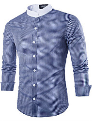 Men's Casual Long Sleeve Regular Shirt (Cotton)
