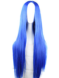 Girl Fashion Must-Have Natural High Quality Blue Long Straight Hair Wig