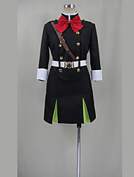 Inspired by Seraph of the End Cosplay Anime Cosplay Costumes Cosplay Suits Solid Top Skirt Belt Stockings Hat For Female