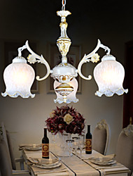 Chandeliers Three-Lights White 220V European Retro Classic