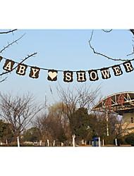 """nueva !!! papel kraft """"de baby shower"""" banners banquete de boda"""