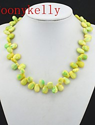Toonykelly® Vintage Look Natural Yellow Yellow Stone Necklace(1PC)