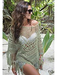 Robes Légères Aux femmes Franges Polyester/Spandex