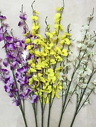 1 paquet de 5 fourche 43 simulation têtes danse orchidée à fleurs (1pcs)