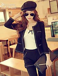 Pink Doll®Women's Casual OL Pocket  Long Sleeve Zipper Suits