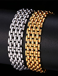 TopGold New Bangle 18K Real Gold / Platinum Plated New Design Link Chain Bracelet Unisex High Quality