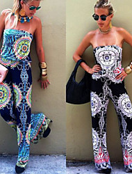 VOV     Women's Jumpsuit , Polyester Sexy/Beach/Casual/Print VOV