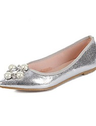 Women's Shoes Flat Heel Closed Toe Flats Casual Silver