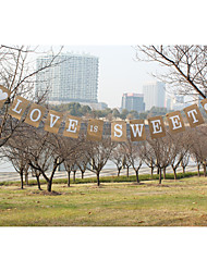 "Kraft Paper""LOVE IS SWEET""Wedding Party Banners"