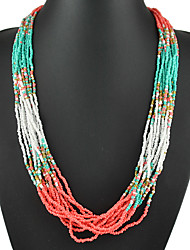 Bohemia Jewelry New Multicolor Hand Made Beads Necklace