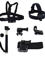 ourspop gp-K27 kit para GoPro Hero 4 3 + / 3/2/1 camera 6-em-1 Acessórios