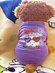 Hunde - Sommer - Baumwolle Purpur - T-shirt - XS / M / XXS / S