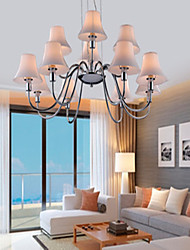 lámparas de araña de cristal 12 luces de metal cromado galvanoplastia sencilla 220v moda moderna