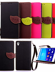 de haute qualité titulaire de la carte de portefeuille PU cuir flip Housse pour sony xperia z4 / Z3 / mini-Z3 / e3 / e4 (couleurs