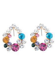 Glamorous Colorful Garland Stud Earrings