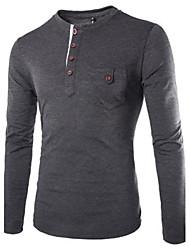 Informeel MEN - T-shirts ( Katoenmengeling )met Lange Mouw