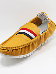 Men's Shoes Casual Fabric Loafers Yellow/White